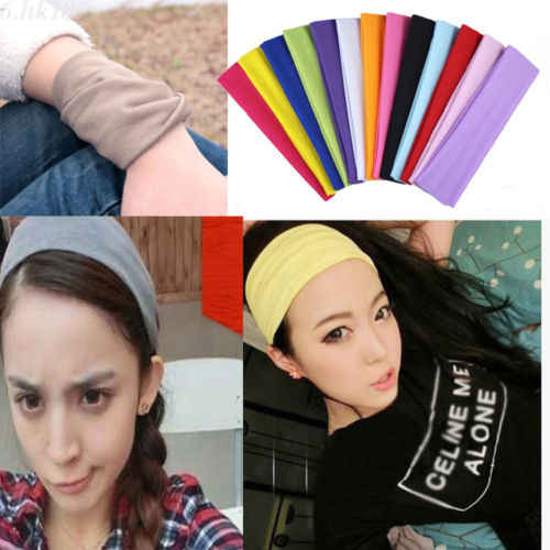 ITFABS sportowe opaska do włosów elastyczna szeroka siłownia joga ćwiczenia kobiet opaska z pałąkiem na głowę bandaż jogi opaski do włosów