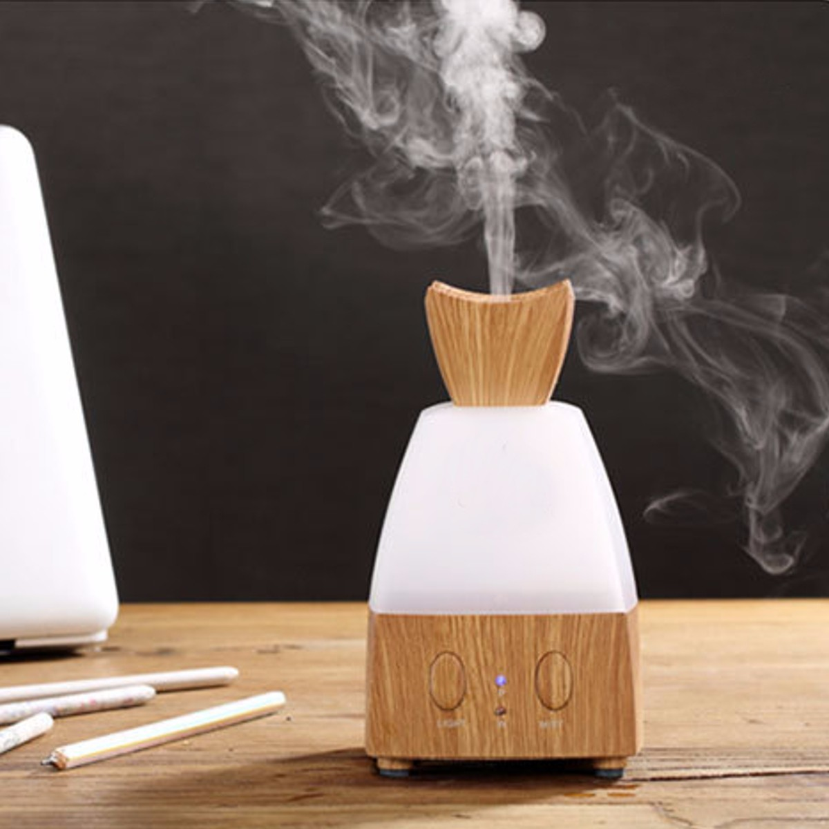 12W LED Wood Grain Air Humidifier Sprayer Purifier Ultrasonic Aromatherapy Essential Oil Diffuser Air Conditioning Appliance New