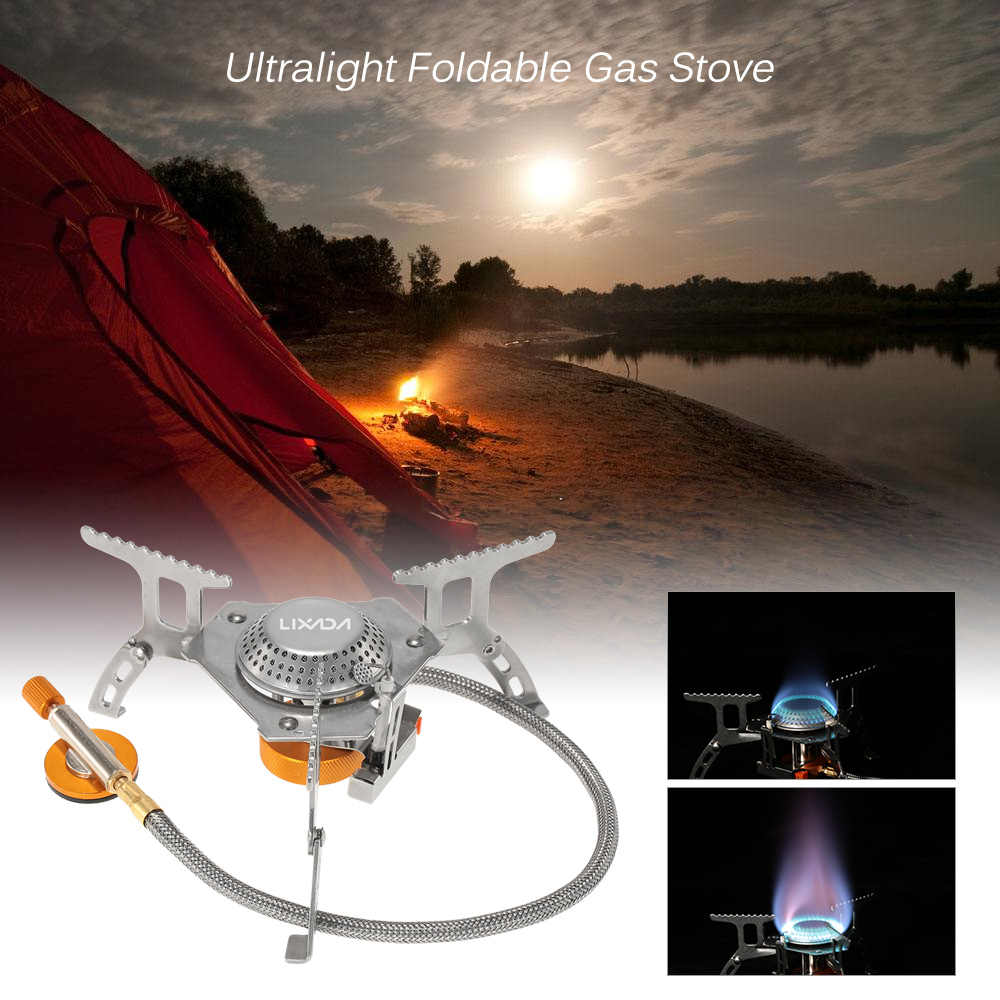 Lixada 105 3000W Outdoor Stove Camping Hiking Gas Stoves Outdoor Tools Accessories Cooking Portable Foldable Split Burner case