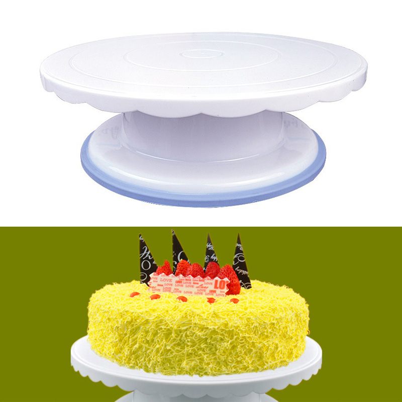 Rotating Revolving Cake Turntable Decorating Anti skid Round Rotary Table Baking Tools WXV Sale in Turntables from Home Garden