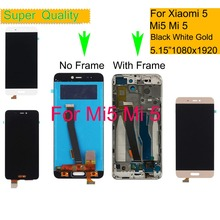 10Pcs/lot For Xiaomi Mi 5 LCD Display Touch Screen Digitizer Pantalla monitor Mi5 Pro Prime LCD Assembly Complete With Frame original for highsrceen power 5 pro lcd five pro display touch screen sensor complete digitizer with touch buttons assembly