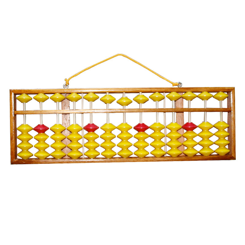 Chinese Abacus 58cm 13 Column Wood Hanger Big Size NON-SLIP Abacus Chinese Tool In Mathematics Education for Teachers цены
