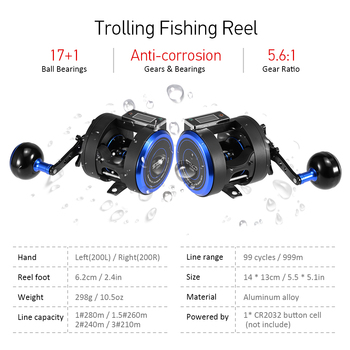 fishing Electronic Counting Reel Fishing Reels 50666ad3783e8ec8dfa7d7: Left Hand|Right Hand