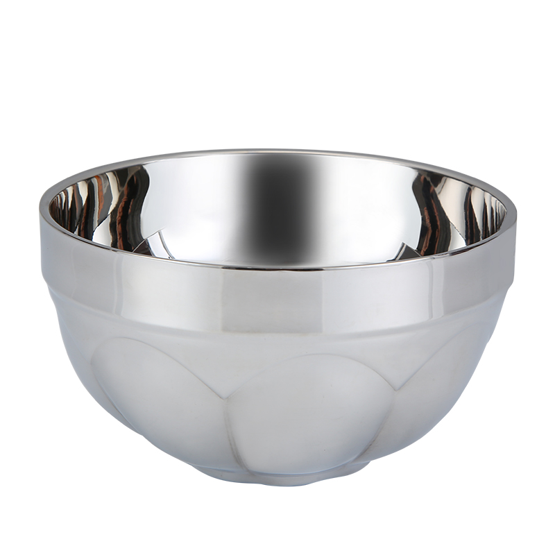 Bowl Korean Double-layer Anti-scalding Insulated Bowl Canteen Staff School Bowl