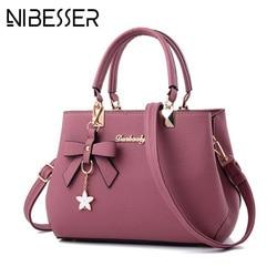NIBESSER 2019 Women Shoulder Bag Women Designer Luxury Handbags Women Bags Plum Bow Sweet Messenger Crossbody Bag for Women