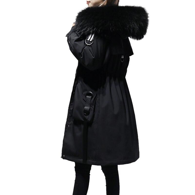 5XL de talla grande abrigo de invierno para mujer 2018 chaqueta de invierno para mujer con capucha acolchada de algodón Parka larga de alta calidad caliente abajo chaquetas p672 - 3