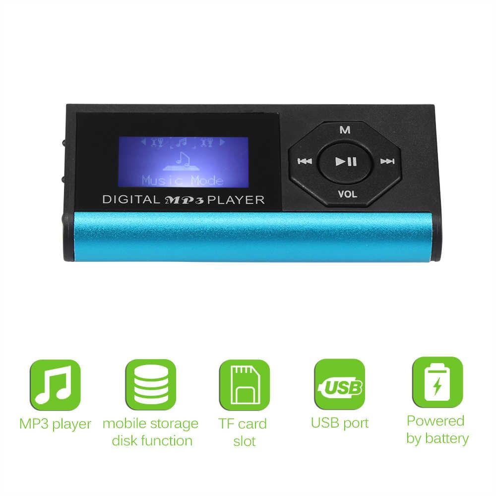 Powstro Новый ЖК-дисплей цифровой музыкальный MP3 плеер без памяти Макс поддержка 16 Гб Micro SD карта TF карта с usb зарядный кабель