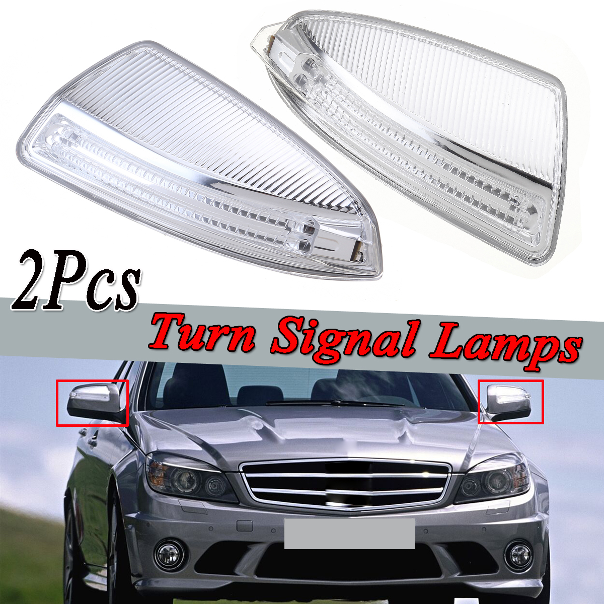 Left/Right Car Door Rearview Mirror Turn Signal Lamps Lights Auto For Mercedes-Benz C-Class W204 ML Class W164 ML300 ML500 ML550Left/Right Car Door Rearview Mirror Turn Signal Lamps Lights Auto For Mercedes-Benz C-Class W204 ML Class W164 ML300 ML500 ML550