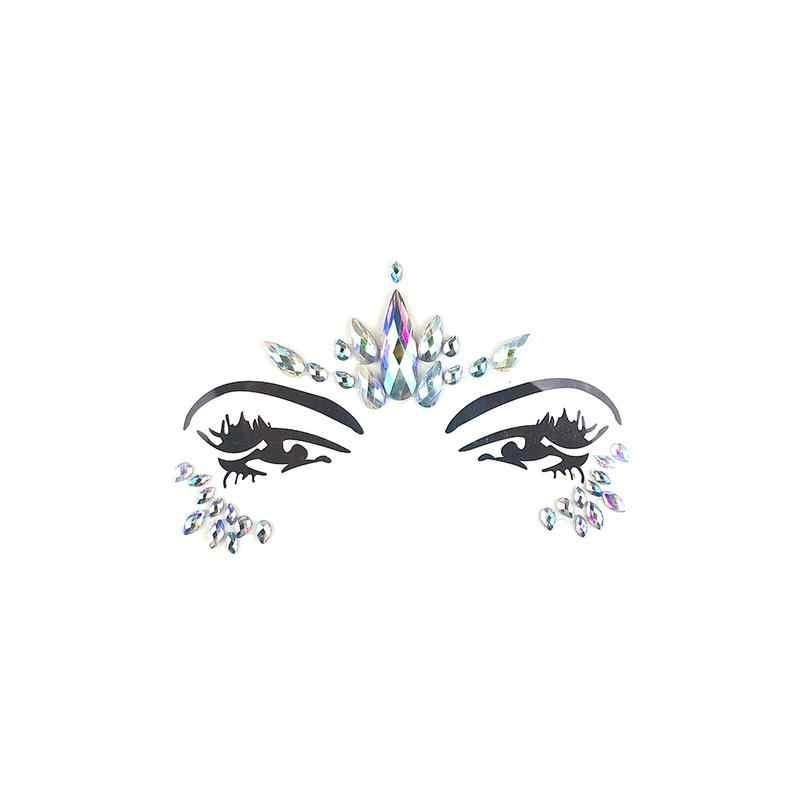... One Time Music Festival Face Diamond Sticker Eco-Friendly Resin Crystal Rhinestone  Face Sticker Party eb6cd56e6140