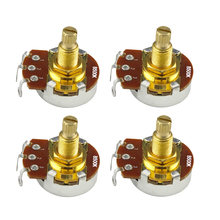 NIEUWE 4 stuks 18mm Lange As Gitaar Potentiometers Potten Audio Tone Volume Schakelaar Controle A250K B250K A500K B500K Optioneel(China)