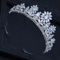 fashion full big Zircon crown bridal tiara gleaming queen princess hair jewelry wedding