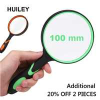 Handle Magnifying Glass 3X Handheld Reading Magnifier Handheld 100 mm Magnifying Lens Non-slip Soft Handle Old People Students