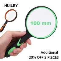 Griff Lupe 3X Handheld Lesen Lupe Handheld 100mm Vergrößerungs Objektiv Nicht-slip Weiche Griff Alte Menschen Studenten