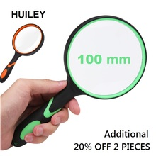 Handle Magnifying Glass 3X Handheld Reading Magnifier 100 mm Lens Non-slip Soft Old People Students