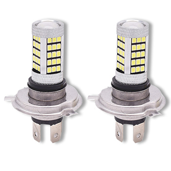 4-side White 6000K H4 9003 HB2 66-LED 12V-24V Hi/Lo Beam Headlight Fog Lamp Driving Light Bulb for Motorcycle Cars Truck 12v 24v relay harness control cable for h4 hi lo hid bulbs wiring controller