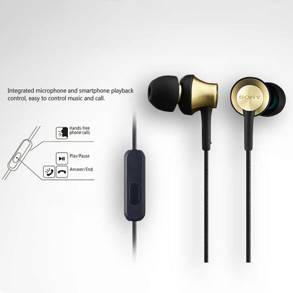 SONY MDR-EX650AP słuchawki 3.5mm przewodowe słuchawki douszne słuchawka stereo inteligentny zestaw słuchawkowy telefonu głośnomówiący z mikrofonem
