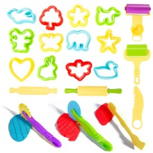 20Pcs/set Kids Plastic Mixed Plasticine Clay Dough Cutters Moulds Childrens Modelling Tool For Kids Hot Sales Modeling Clay Tool