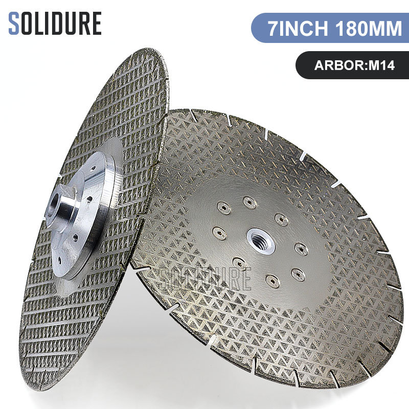 9 inch 230mm electroplated saw blade with arbor M14 Flange for dry or wet cutting and grinding marble or engineered stone 9 inch 230mm electroplated saw blade with arbor M14 Flange for dry or wet cutting and grinding marble or engineered stone