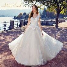 Ashley Carol Appliques A-Line Wedding Dress 2019 V-neck
