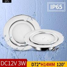 LED mini spotlight outdoor IP65 waterproof bathroom ceiling hidden downlight ultra-thin spot 12V cabinet light recessed