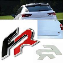 3D металлический FR автомобиль задний багажник эмблема наклейка Накладка для сиденья Ibiza Altea Leon