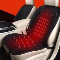 Car Diamond Heating Cushion Cashmere Plush Heater Pad Heating Warmer Right Seat Cushion Electric Heated Seat Cushion Supplies