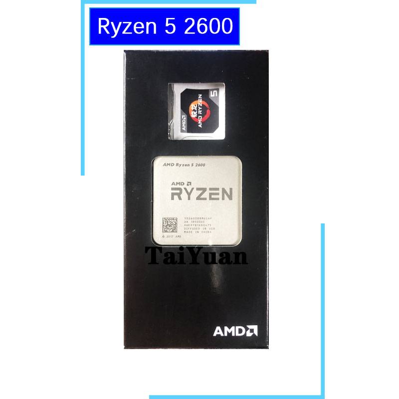 AMD CPU Processor Yd2600bbm6iaf-Socket R5 2600-3.4 AM4 Six-Core Ghz Twelve-Thread title=