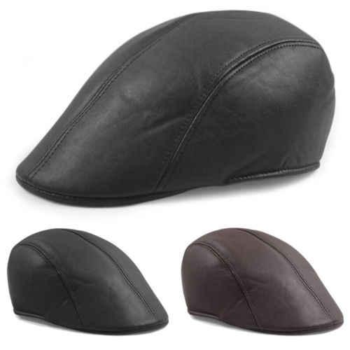 Detail Feedback Questions about Vintage Mens Leather Flat Ivy Caps Newsboy  gatsby Bonnet Cabbie Biker Beret Hat on Aliexpress.com  92b467f8574