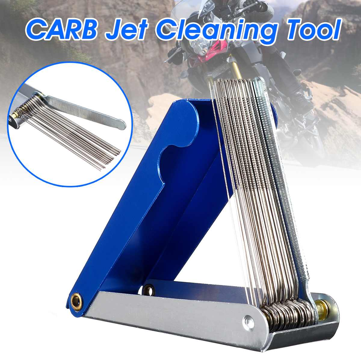 Carb Jet Cleaning Tool Carburetor Wire Cleaner Set For Motorcycle ATV Parts