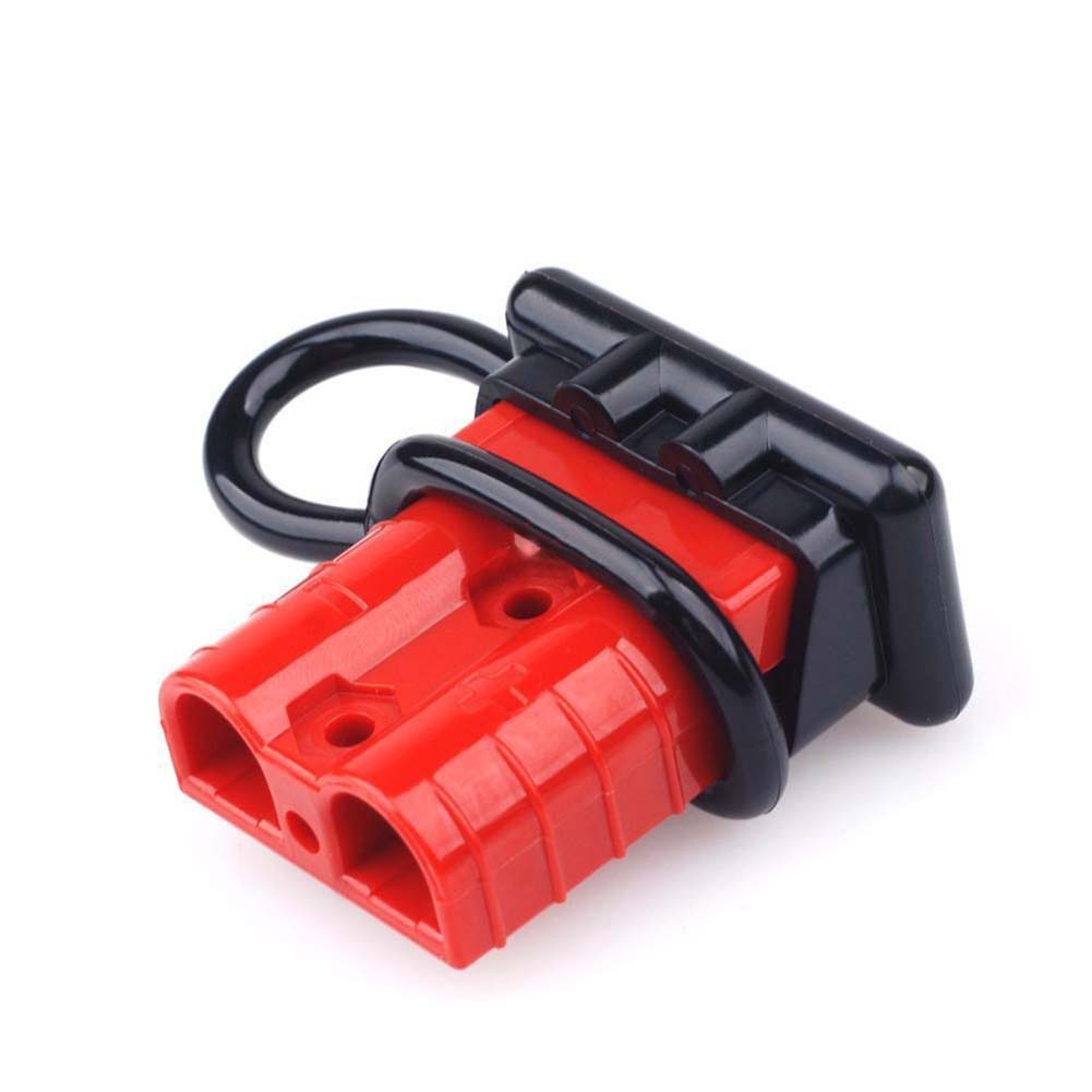2pcs 50A 600V Battery Trailer Pair Charge Plug Quick Connector Kit 4 *Terminal Pin+2*dustproof Plug Caps Connect Disconnect Part
