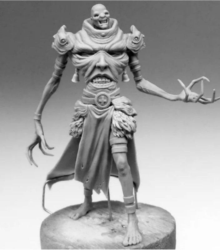 54mm Scale Model Fantasy Series Evil Master <font><b>Resin</b></font> <font><b>Figure</b></font> Model DIY Toy Adult Hobby Collection Free Shipping image