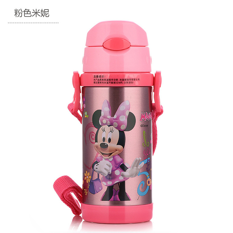 Image 3 - Disney Cute Cartoon 2019 New Fashion Portable Heat Preservation Cup Children Stainless Steel Sucker Water Kettle With Water Cup-in Cups from Mother & Kids