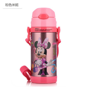 Image 3 - Disney Cute Cartoon 2019 New Fashion Portable Heat Preservation Cup Children Stainless Steel Sucker Water Kettle With Water Cup