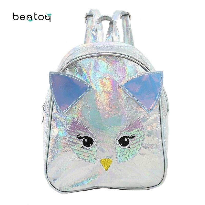 0be6a9f510db Купить Мини рюкзак для девочек подростков с рисунком Совы кожаные женские  дорожные маленькие сумки студенческая детская школьная сумка для девоч...  Цена ...