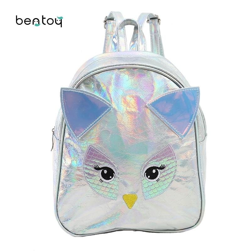 Mini Backpack For Teenage Girls Cartoon Owl Leather Women Travel Small Bags Student Children School Bag Girls Book Bag Satchel