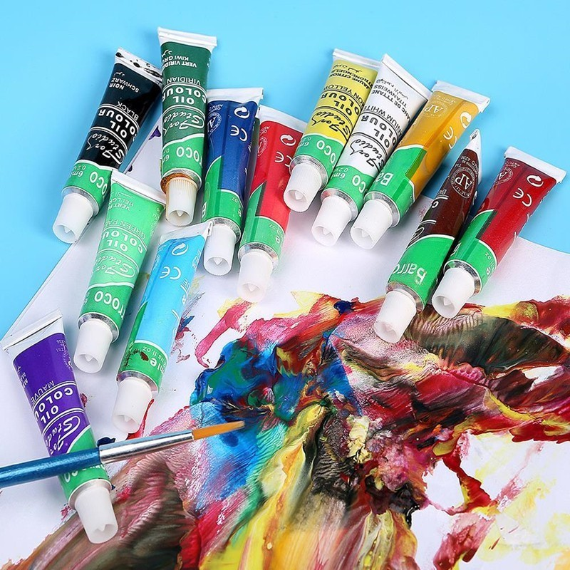12 Colors/lot Oil Acrylic Paints Set For Painting Drawing Artist Watercolor Artistic Brush Art Supplies Pigment Graffiti 03175  12 Colors/lot Oil Acrylic Paints Set For Painting Drawing Artist Watercolor Artistic Brush Art Supplies Pigment Graffiti 03175
