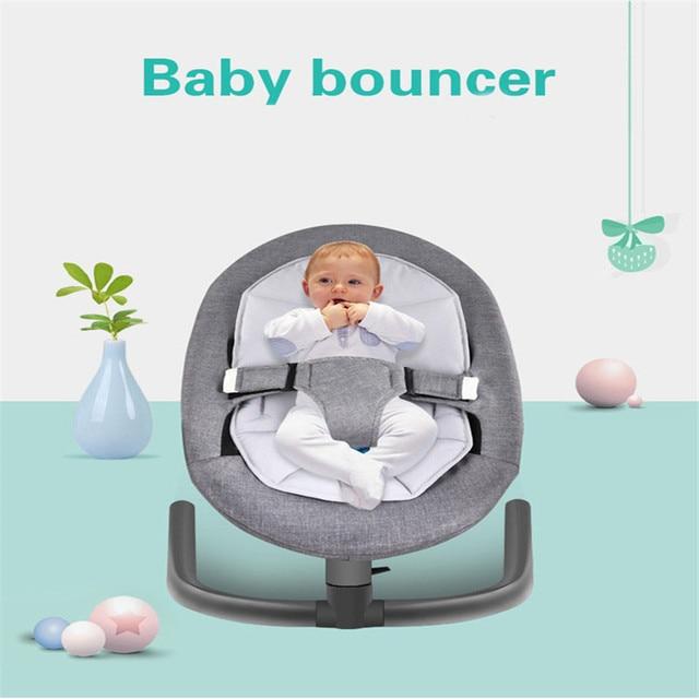 Bebé durmiendo cesta bebé silicona Salincak de aleación de aluminio de recién nacido chico cambios gorila silla mecedora automática cama cuna Rocker