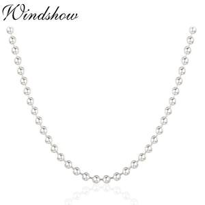 windshow Real Pure 925 Sterling Silver Chains Men Jewelry