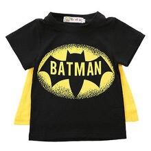 Детская накидка Бэтмена с героями мультфильмов для маленьких мальчиков, футболки хлопковые топы с короткими рукавами