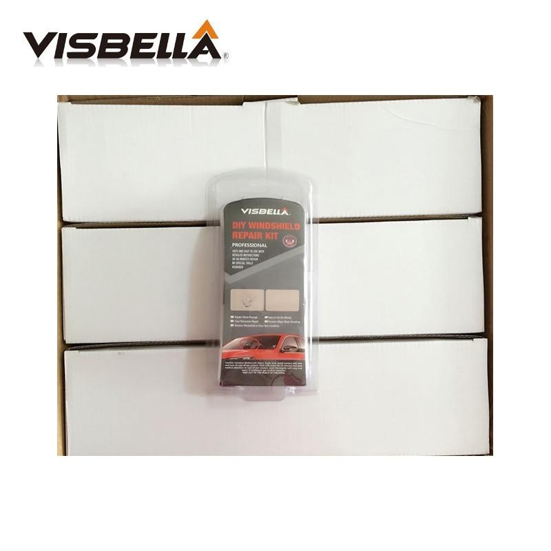VISBELLA 12KITS DIY Window Repair Hand Tool Sets Windshield Glass Scratch Restoration Kits Car Care Windscreen