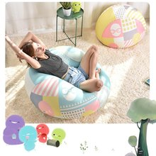 Bean Bag Sofa Chair Cover Lounger Bank Poef Zetel Woonkamer Meubels Zonder Vulmiddel Zitzak Bed Poef Bladerdeeg Bank Lazy tatami(China)