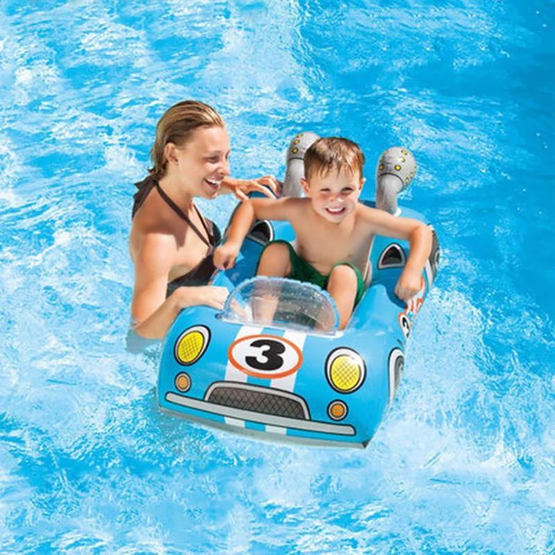 Baby Summer Swimming Seat Child Swimming Ring Baby Pool Seat Float Aid Trainer Water Cartoon Boat Swimming Circles Water Play