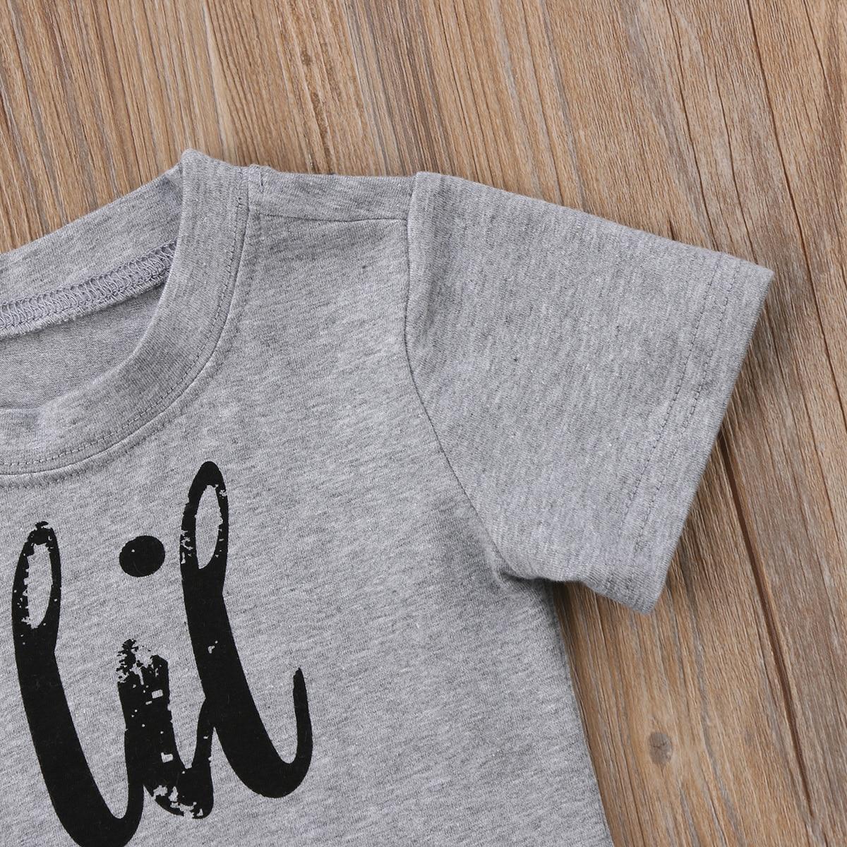 Heiße Neue Marke Kinder Kleinkind Baby Jungen Mädchen Brother Schwester Sommer Kurzarm Baumwolle Top Brief T-shirt Casual 0- 24 M
