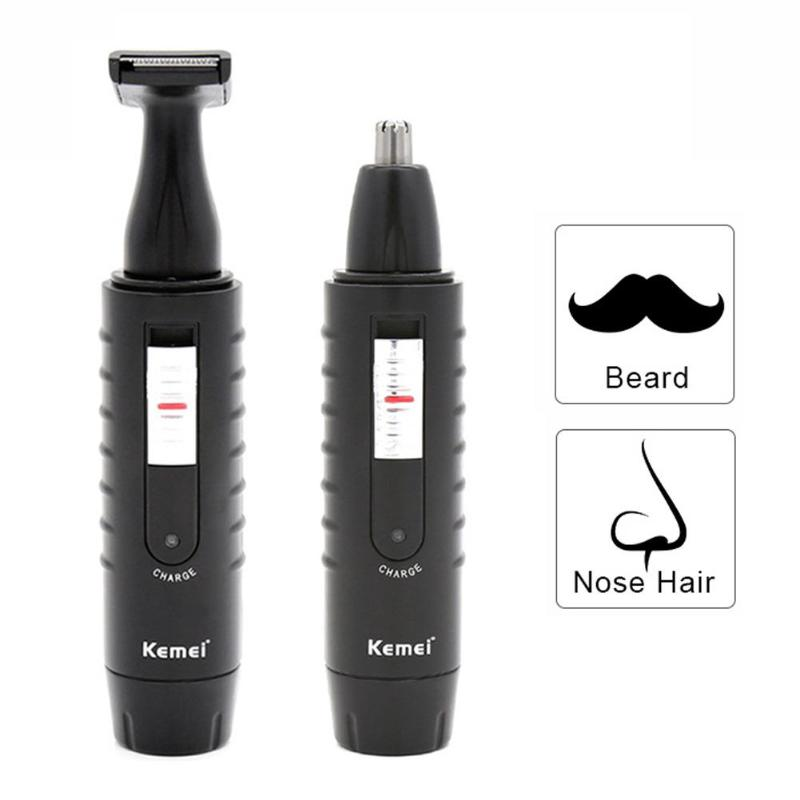 Kemei KM-9688  Electric Nose Hair Trimmer Rechargeable 2 in 1 Beard Shaver
