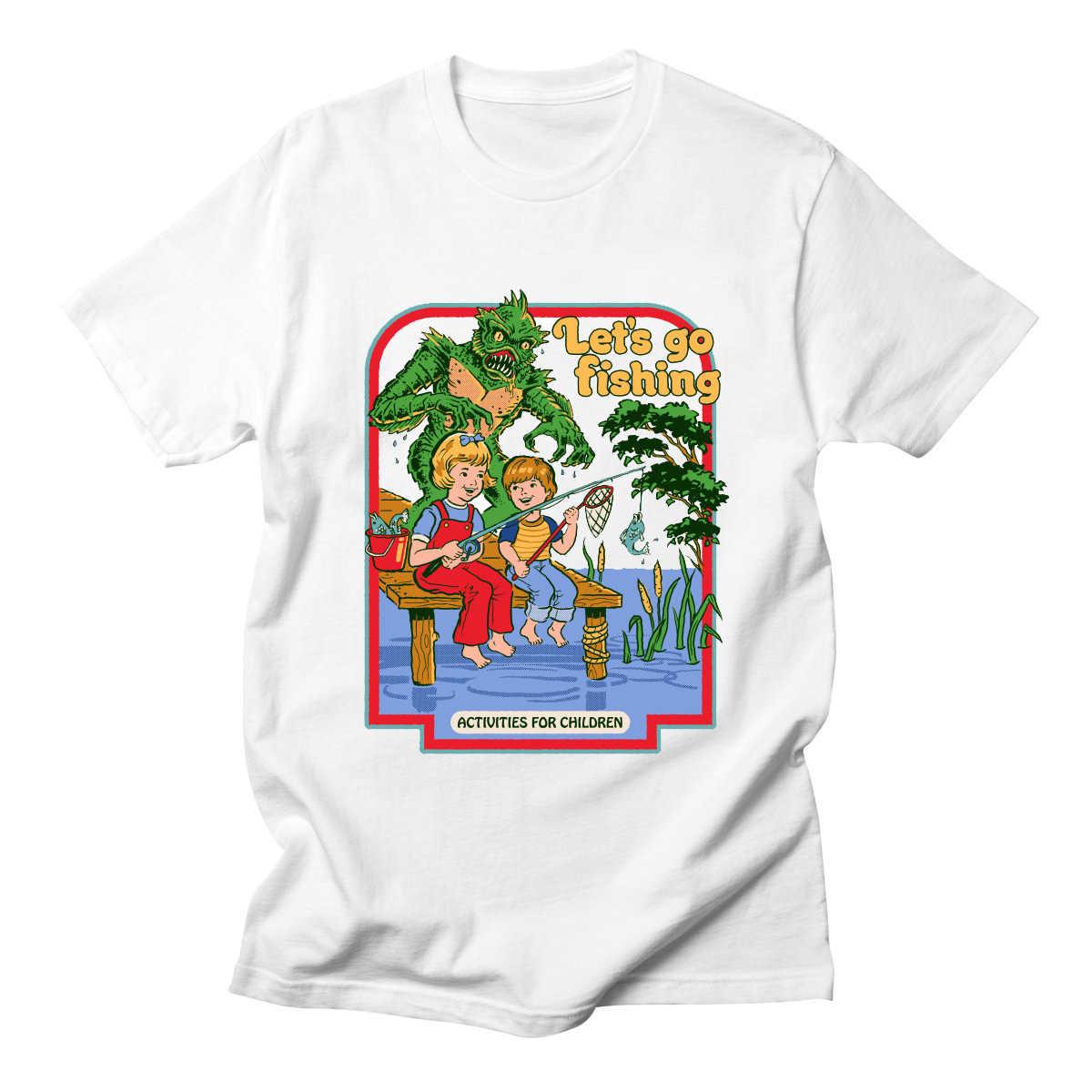 02187cd2b Men Cotton Short Sleeve Let's Summon Demons Graphic Tops Harajuku Summer  Let's Make Brownies T Shirt