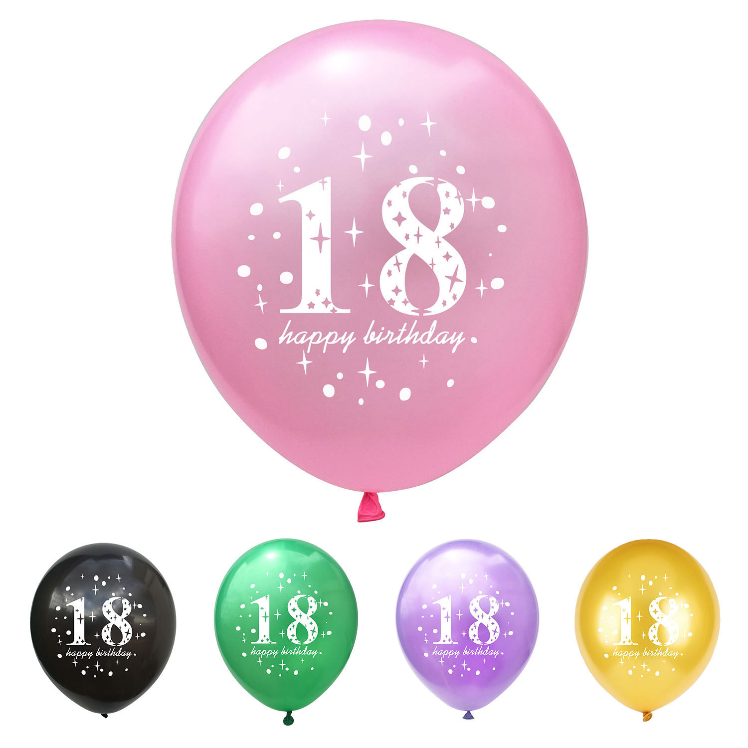 10pc Happy <font><b>18th</b></font> <font><b>Birthday</b></font> Latex Number Balloon 18 Years Old Balloons <font><b>Birthday</b></font> <font><b>Decoration</b></font> <font><b>Birthday</b></font> Party <font><b>Decorations</b></font> Adult Ballons image