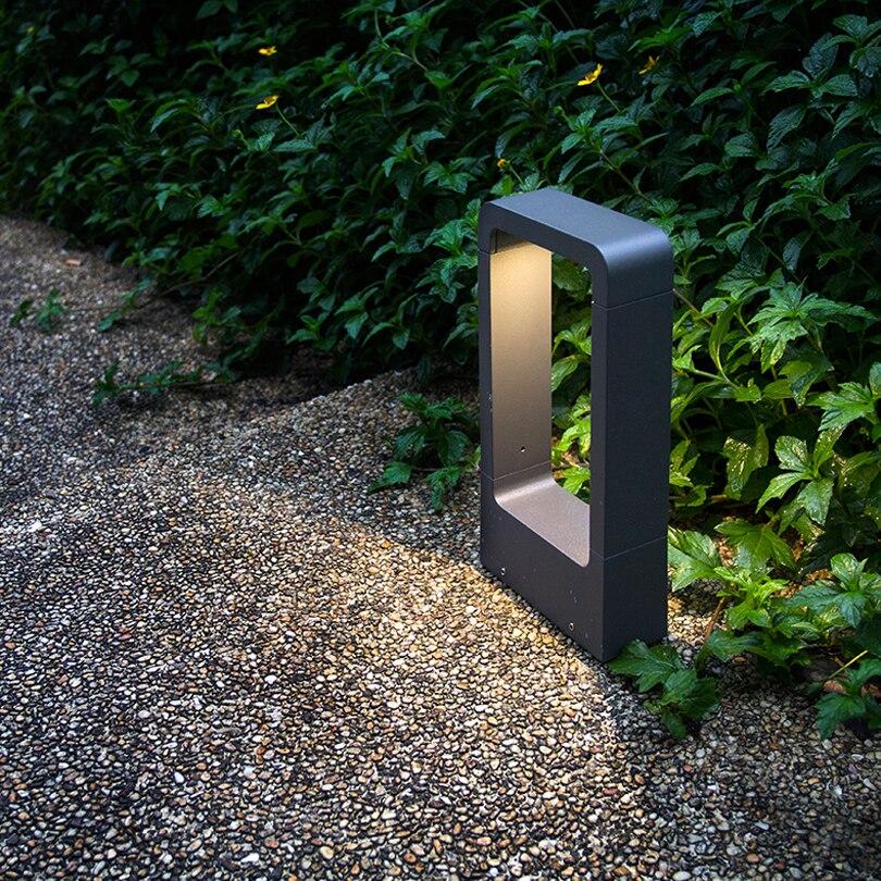 YRANK AC85 265V DC12V Outdoor IP68 Waterproof LED Lawn Lamp 10W COB LED Exterior Bollard Floor