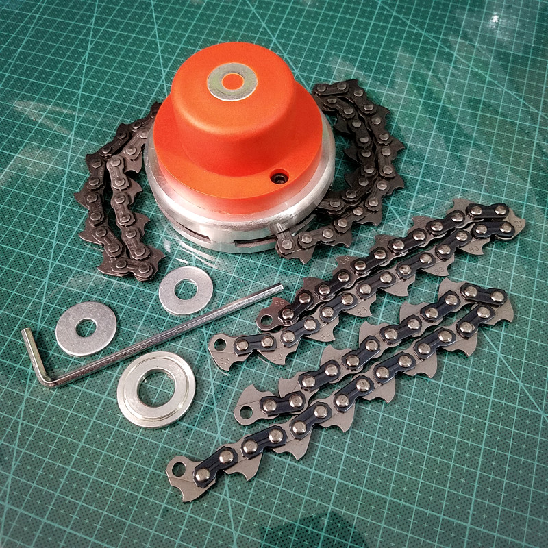 NEW Universal Trimmer Head Coil 65Mn Chain Brushcutter With Thickening Chain Garden Grass Parts Trimmer For Lawn Mower