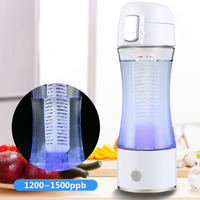White New 1500ppb Rechargeable Bottle Hydrogen Rich Water Maker Ionizer Cup Generator