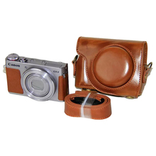 Retro PU Leather Camera bag hard case cover with Strap For Canon G9X / G9X II Mark II 2 S100 110 S120 Digital Camera Cases Cover все цены